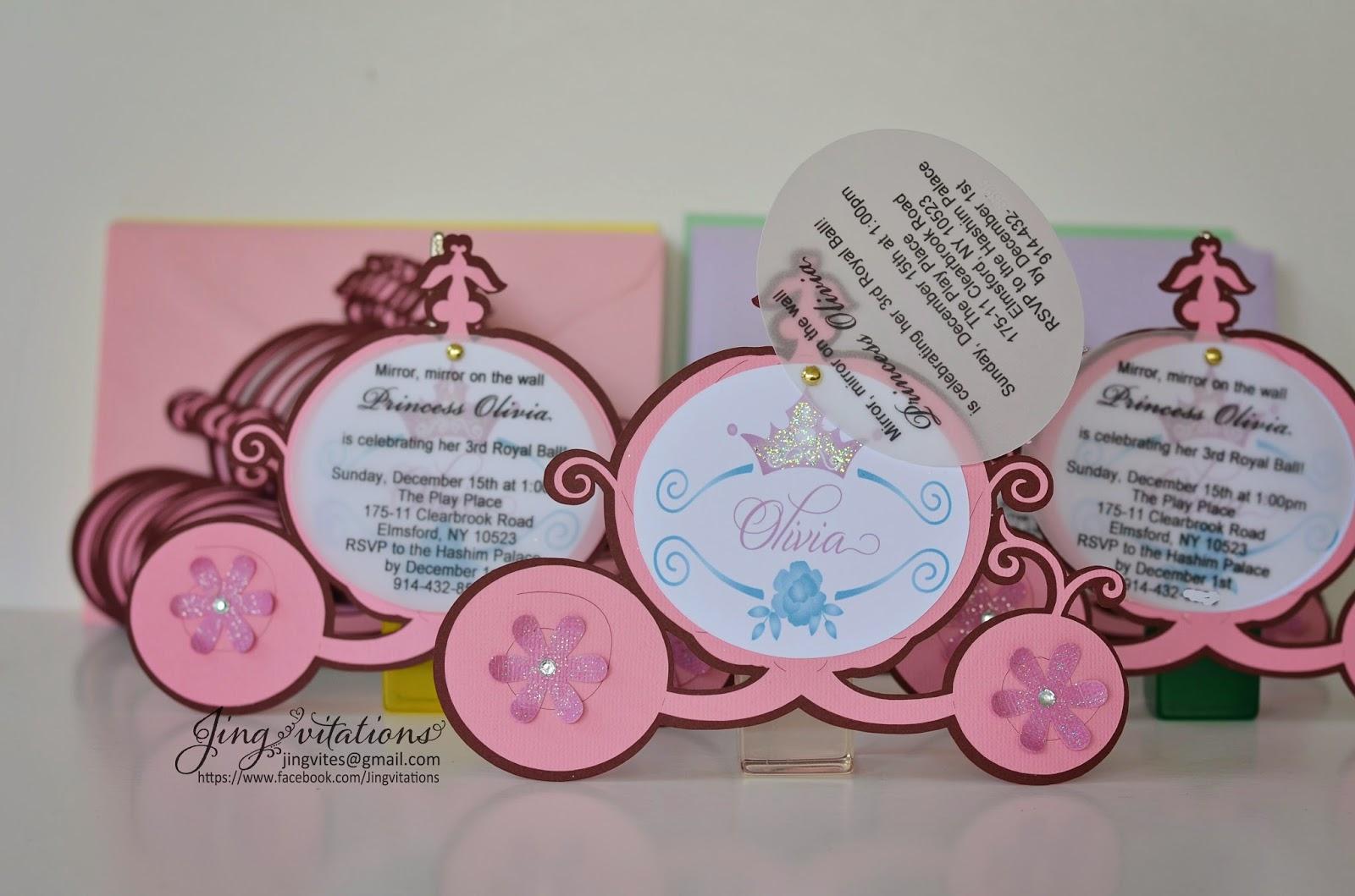 Birthday and Baby Shower Invitations: Princess Birthday Party ...
