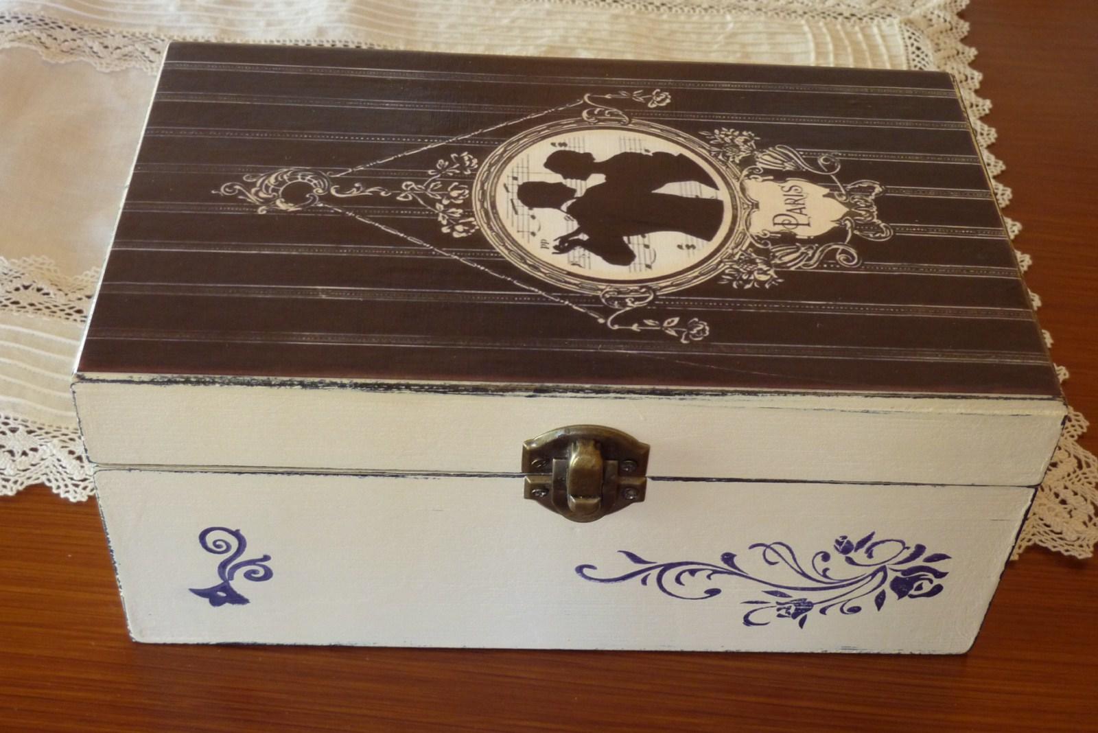 Ciento volando cajas de madera pintada - Cajas de madera para regalo ...