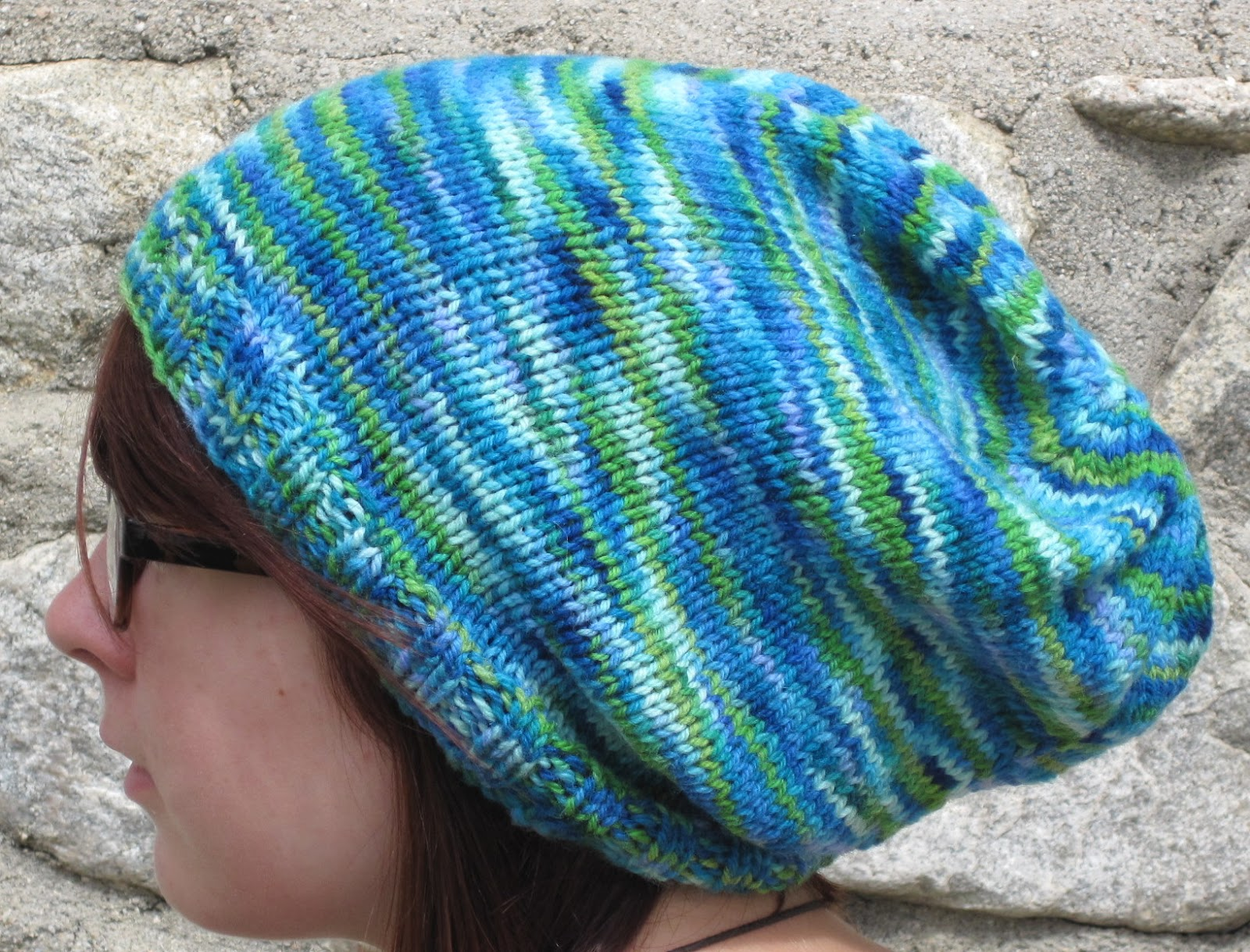 Just a Stitch Away: Free Slouchy Knit Hat Pattern