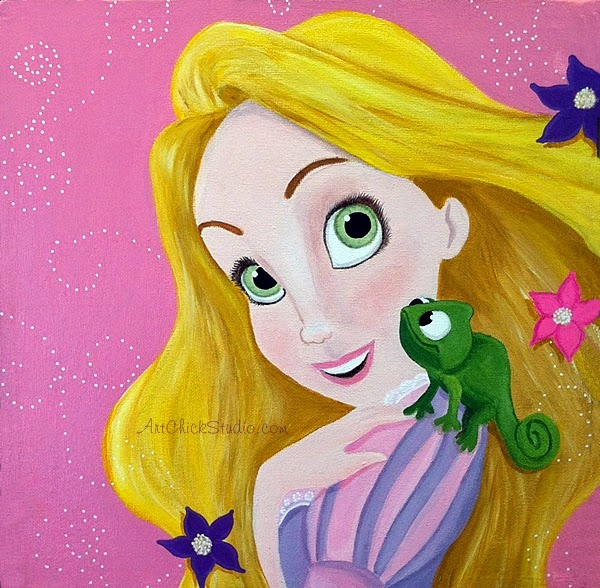 Rapunzel Acrylic Painting