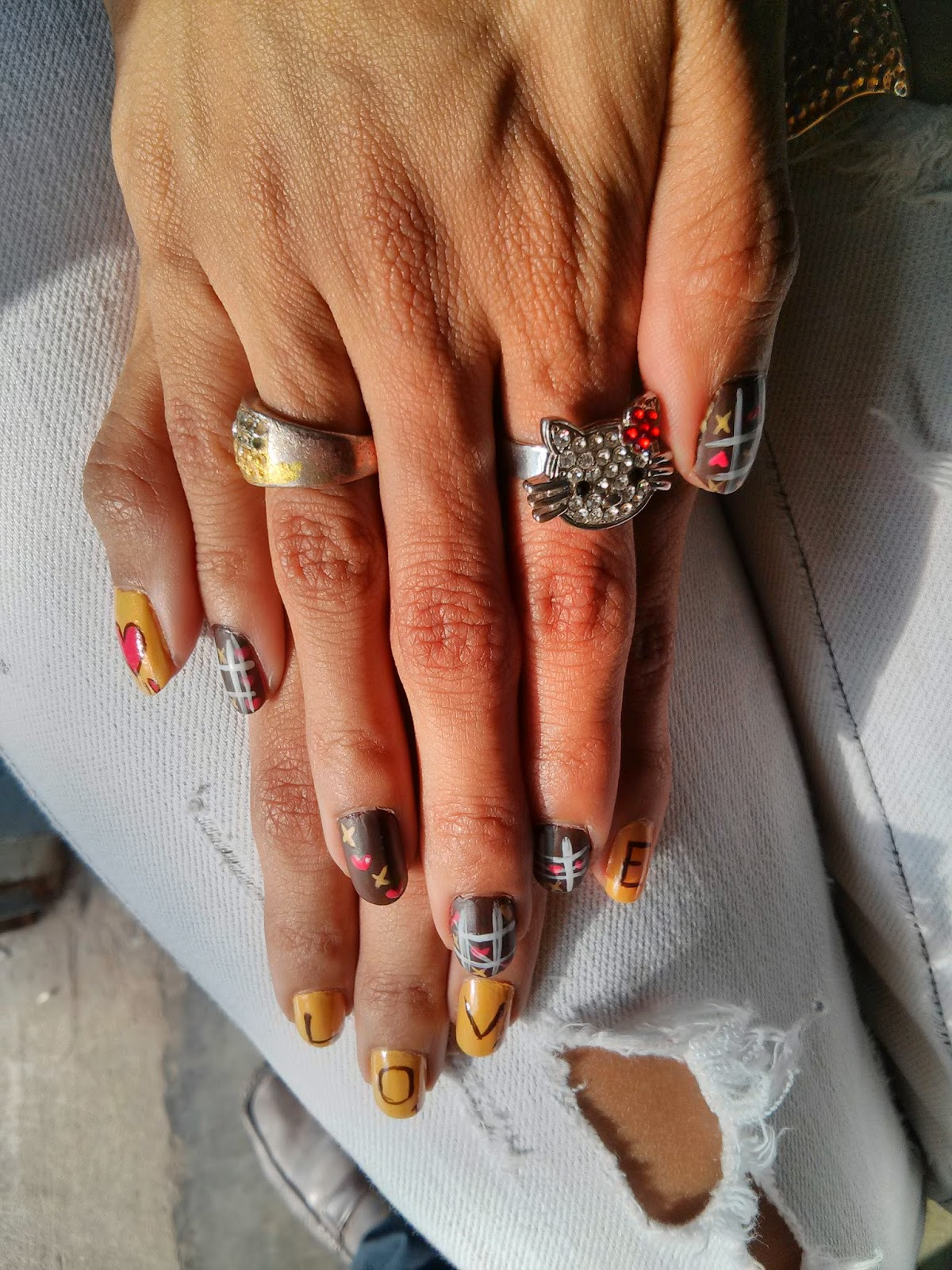 Sweetkitty Nailsmakeup Scrabble Y La Vieja Love Nail Art
