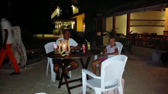 Cena en Las Maldivas