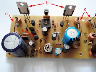 10 W Audio amplifier with transistors and DIY resistors