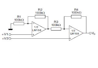 LM358 Amplificador diferencial de  alta impedancia.