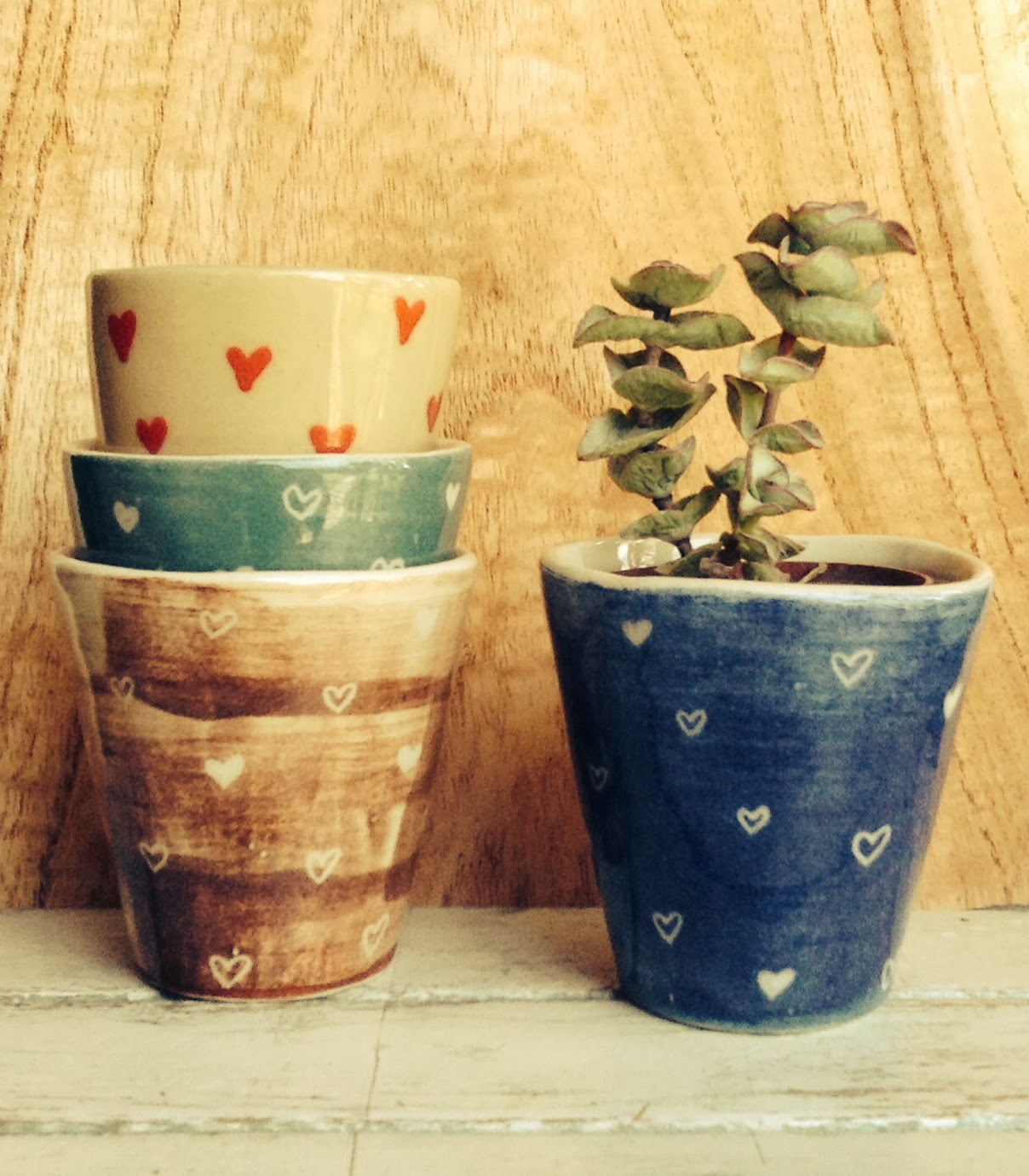 Cer mica y dise o tres margaritas macetas amorosas Macetas ceramica online