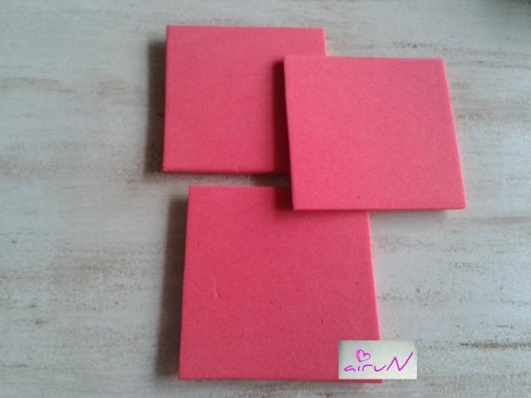 cuadrados goma eva molinillo