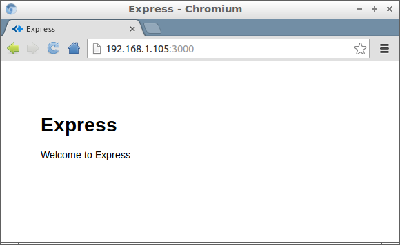 Express for node