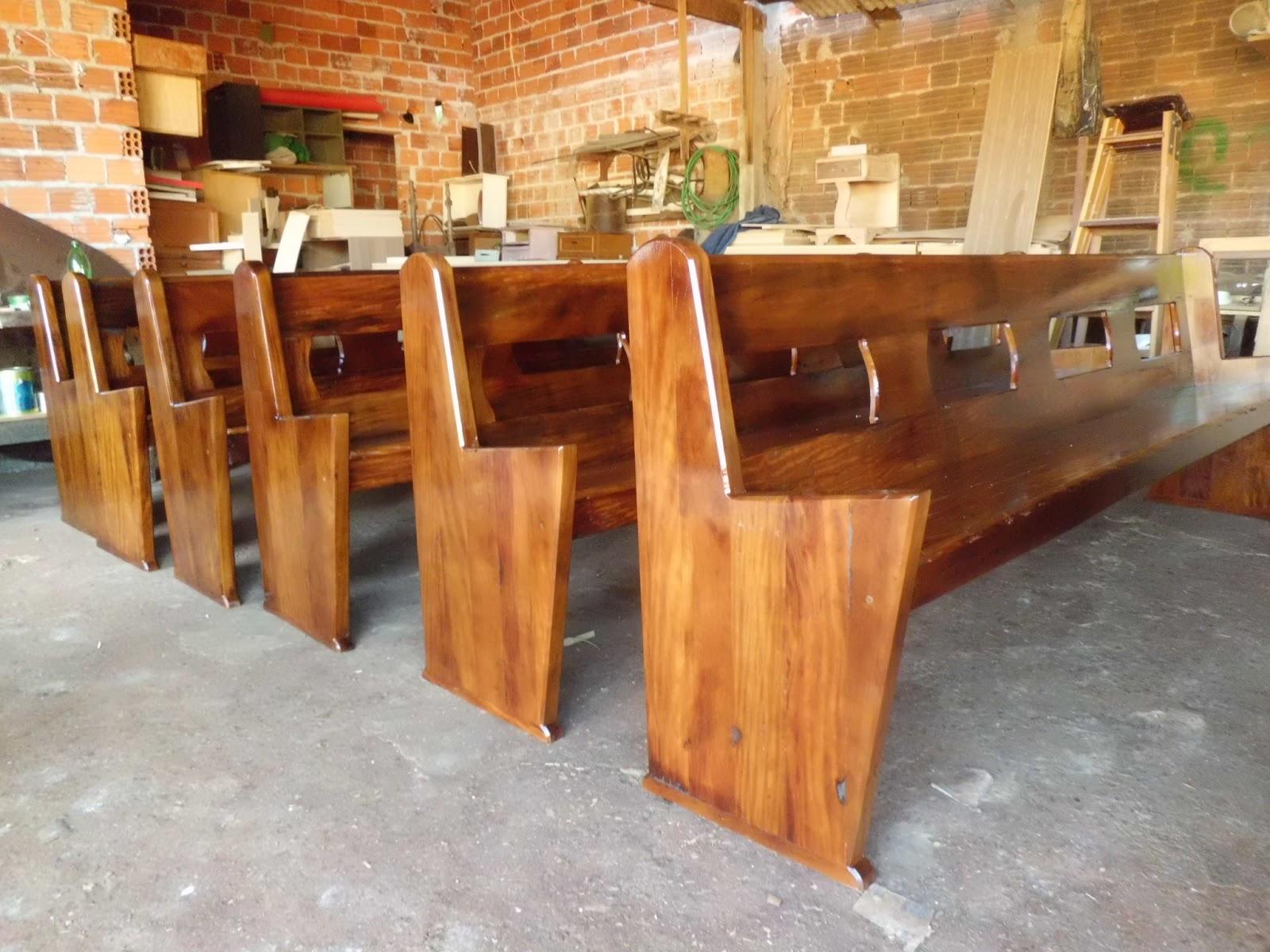 bancos de igreja feitos de peroba (madeira de demolição) #B34218 1600x1200