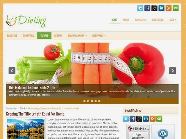 Dieting - Free Wordpress Theme