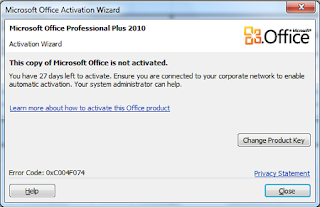 Cara memusnahkan this copy of microsoft office is not activated