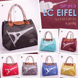 jual online handbag wanita murah bahan parasut gambar eiffel