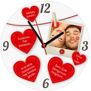 Sevgiliye hediye duvar saati
