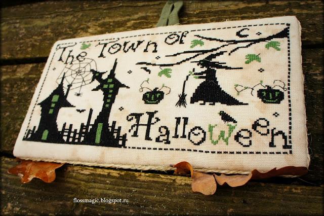 вышивка крестиком хеллоуин