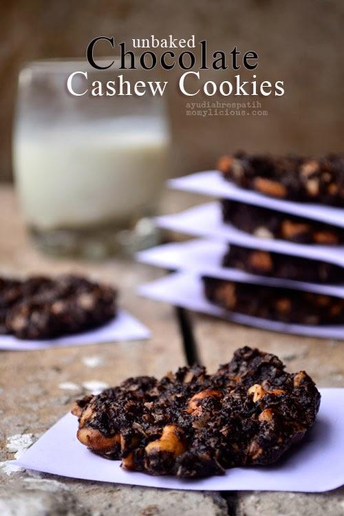 Unbaked Chocolate Cashew Cookies