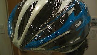 雨対策済みヘルメット