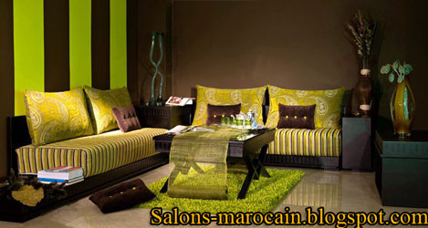 canap fauteuil pour les salons marocain european moderne 2013 f4 - Decoration Salon Moderne 2013 En Marron