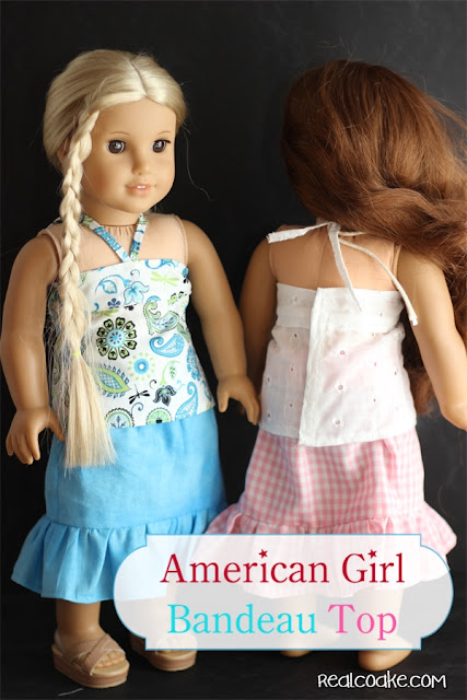 American Girl Doll clothes pattern to make a Bandeau Top from www.realcoake.com