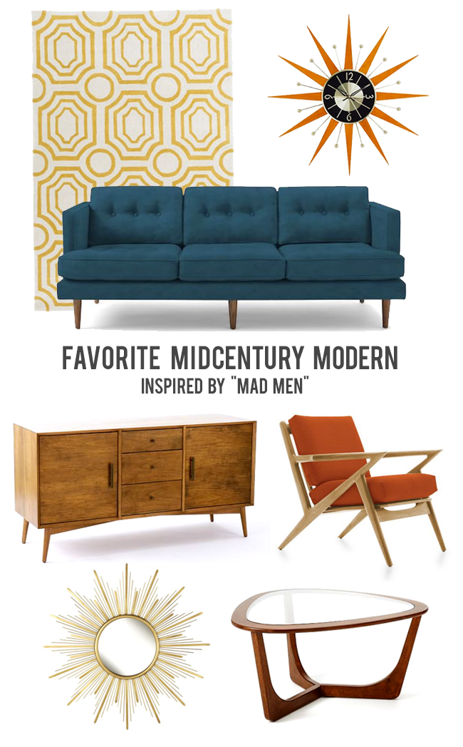 Mad Men Inspired Home Decor