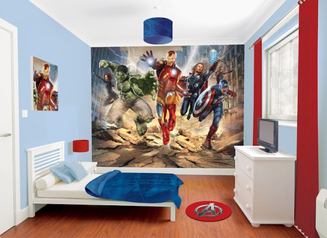 THE AVENGERS BEDROOM DECORATION AVENGERS BEDDING SET by dormitorios.blogspot.com DORMITORIOS DE LOS AVENGERS