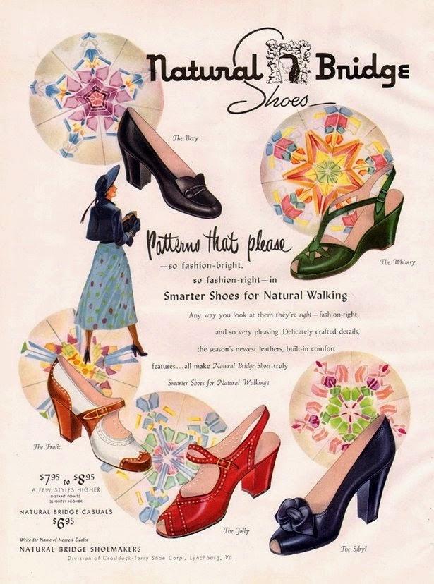 Vintage Natural Bridge shoes ad