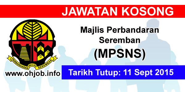 Jawatan Kerja Kosong Majlis Perbandaran Seremban (MPSNS) logo www.ohjob.info september 2015