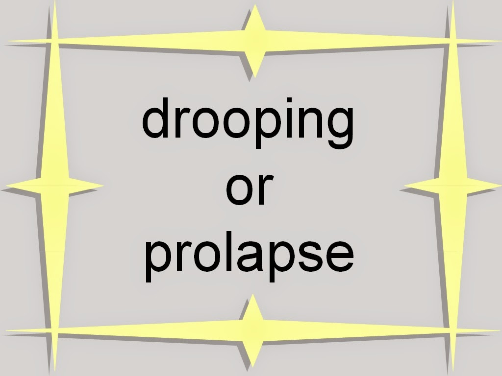suffix for drooping