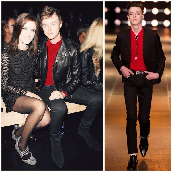 Anna Wood and Dane DeHaan at Saint Laurent Spring Summer 2015 show Paris Fashion Week
