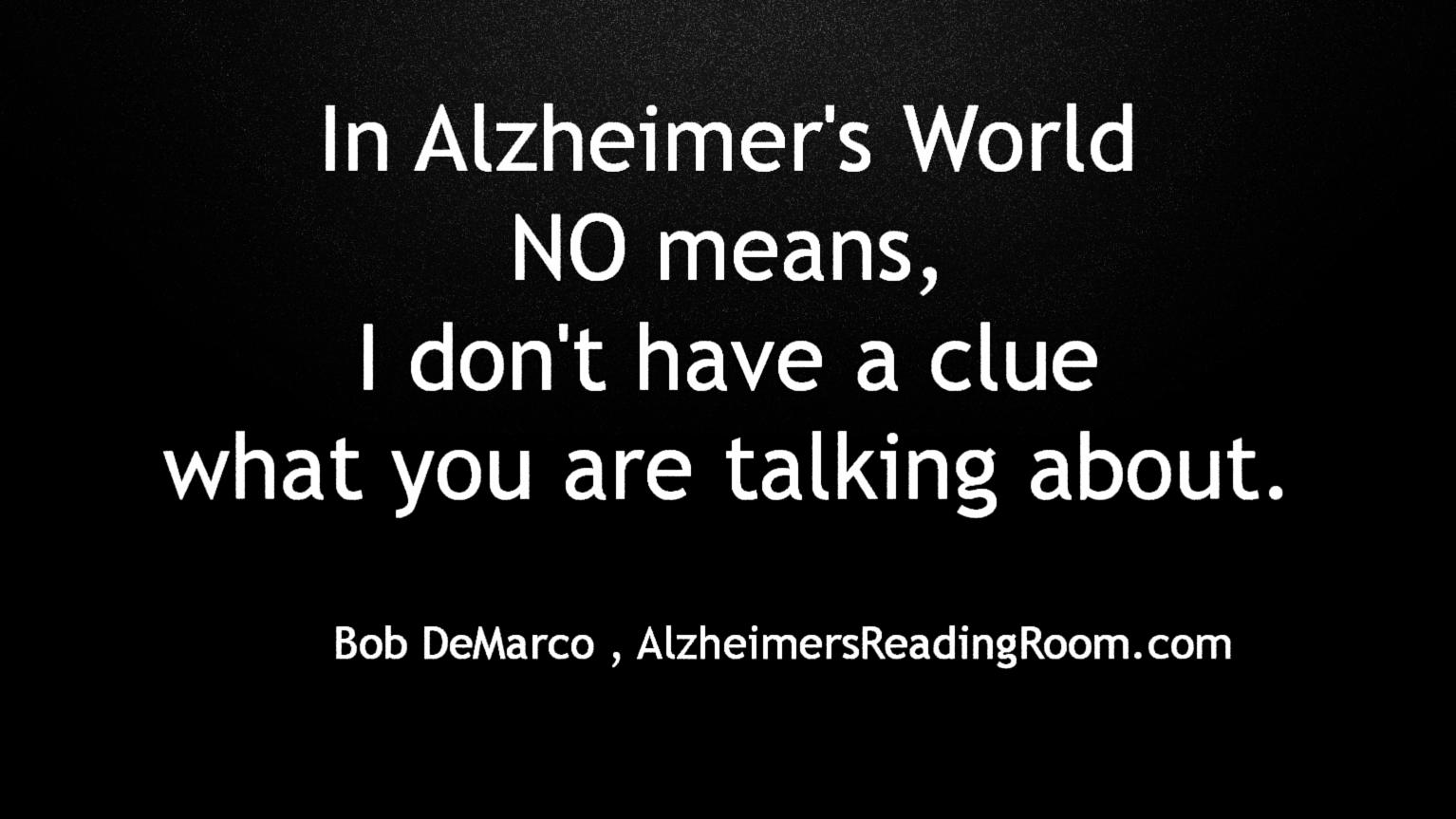 Quote In Alzheimer's World