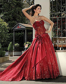 Various kinds of wedding dresses with new models: Red Wedding Dresses