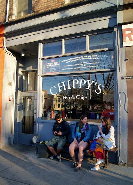 Chippy's Fish and Chips Inc. Restaurant on West Queen West Stree in Toronto, review, food, takeout, scallops, prawn, halibut, haddock, frenc fries, food, ontario, the purplescarf, melanie.ps