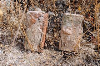 Los dos tipos de ladrillos usados para las defensas.