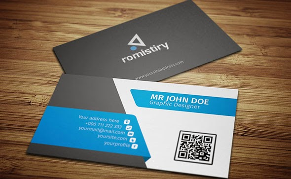 Corporate Business Card PSD Template For Free Download - Business card design template free