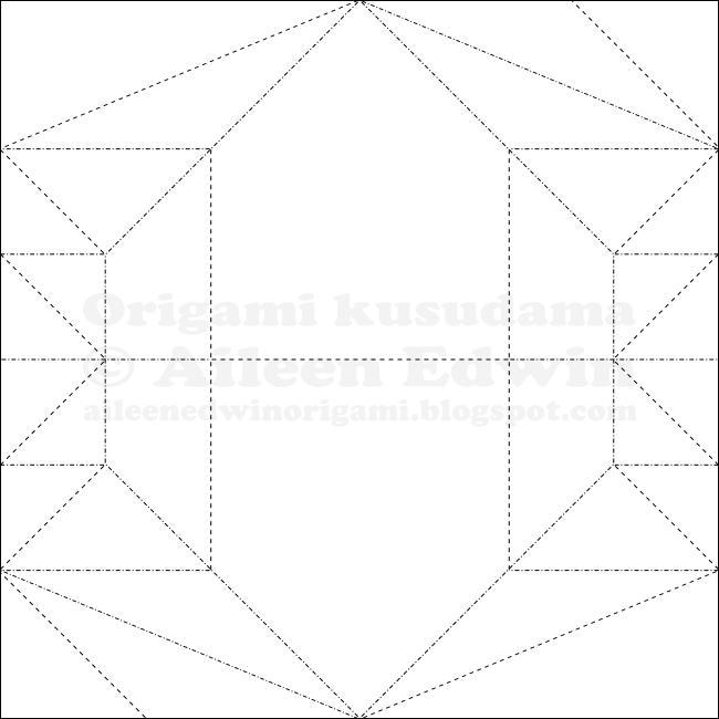 Origami Kusudama Module CP (Aileen Edwin)