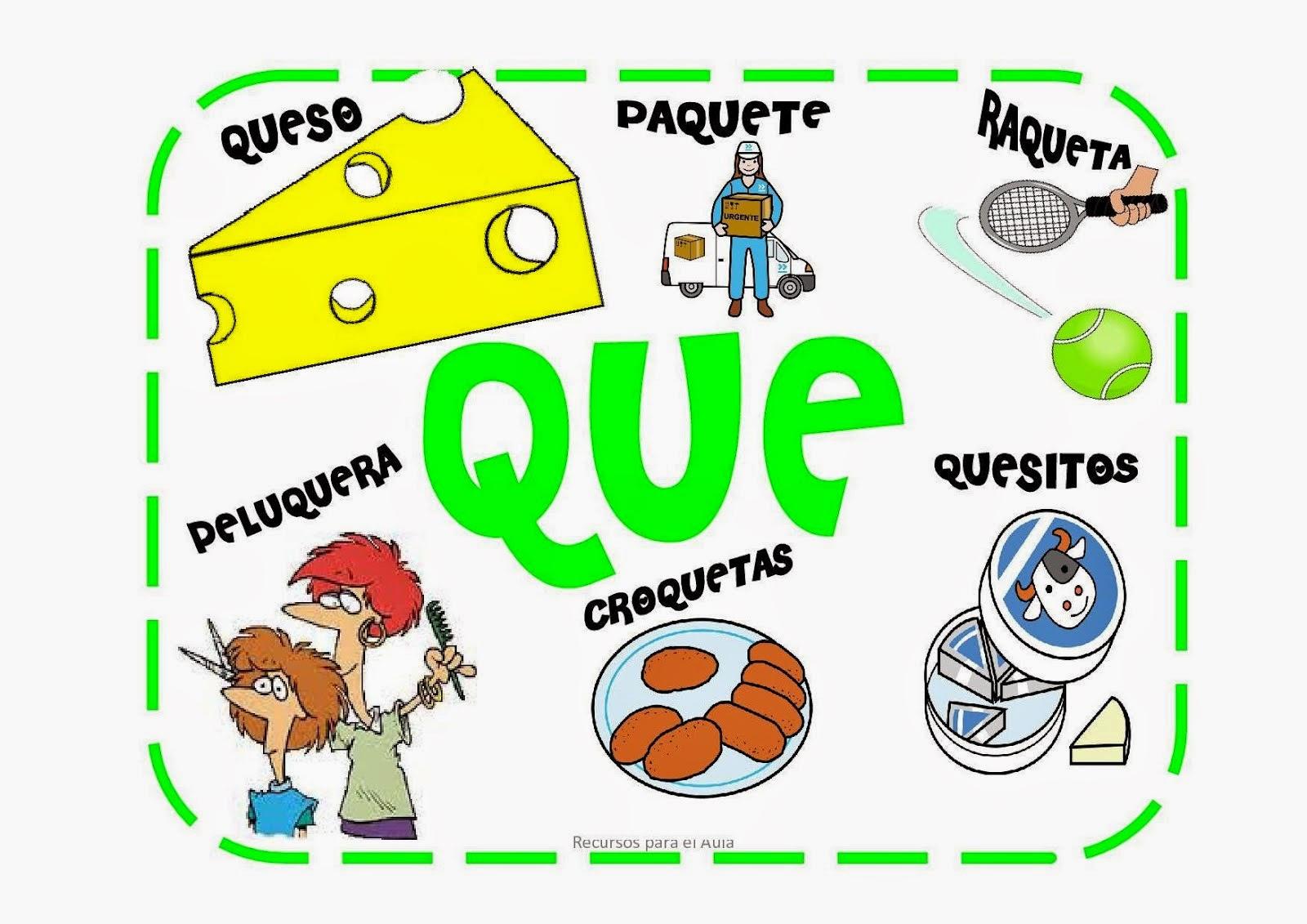 La aventura de aprender: Aprende: CA, CO, CU, QUE, QUI.