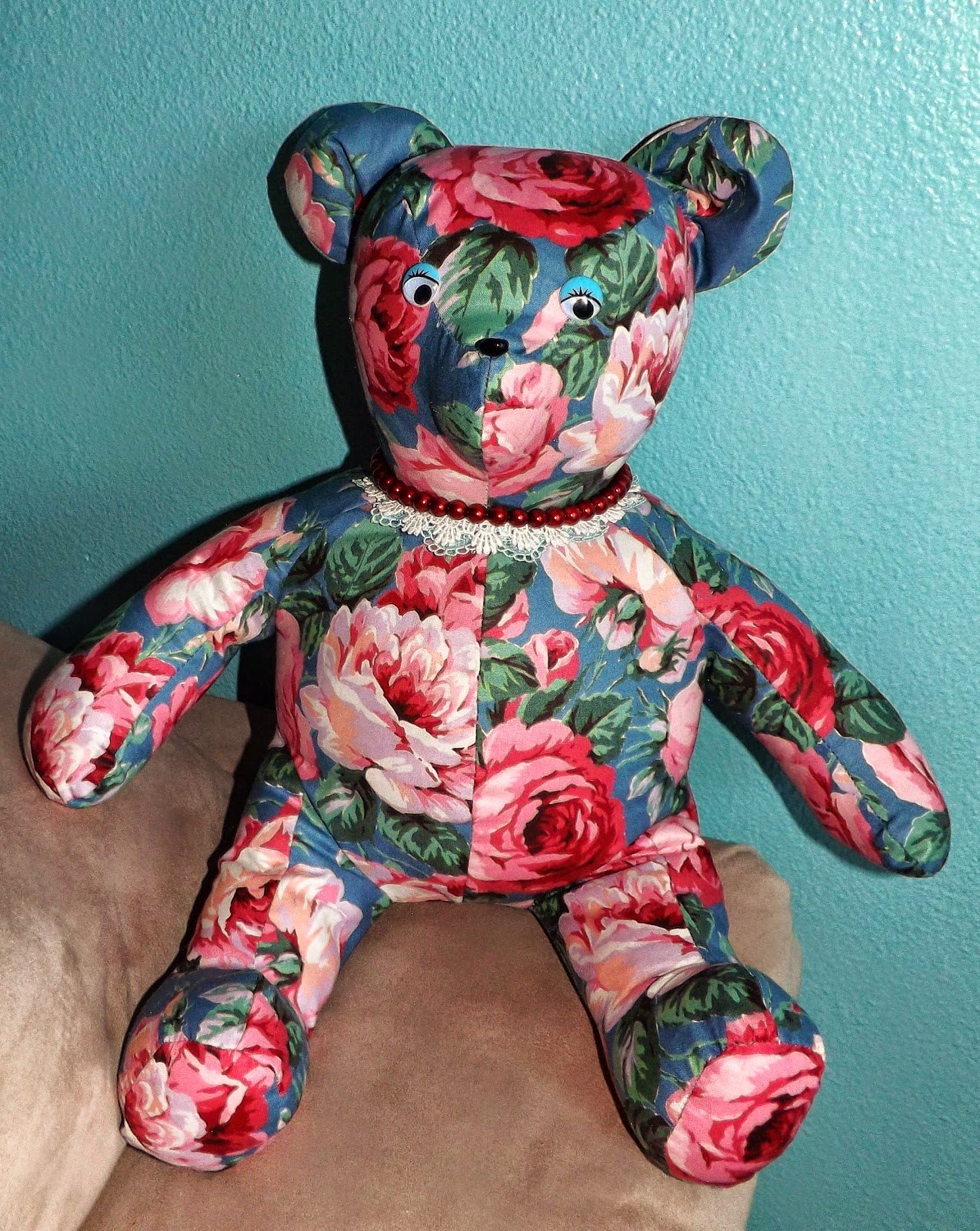 Sewing, Шитье, Игрушки, Toys, Bear in roses / Медвежонок в розах, Ручная работа, hand made