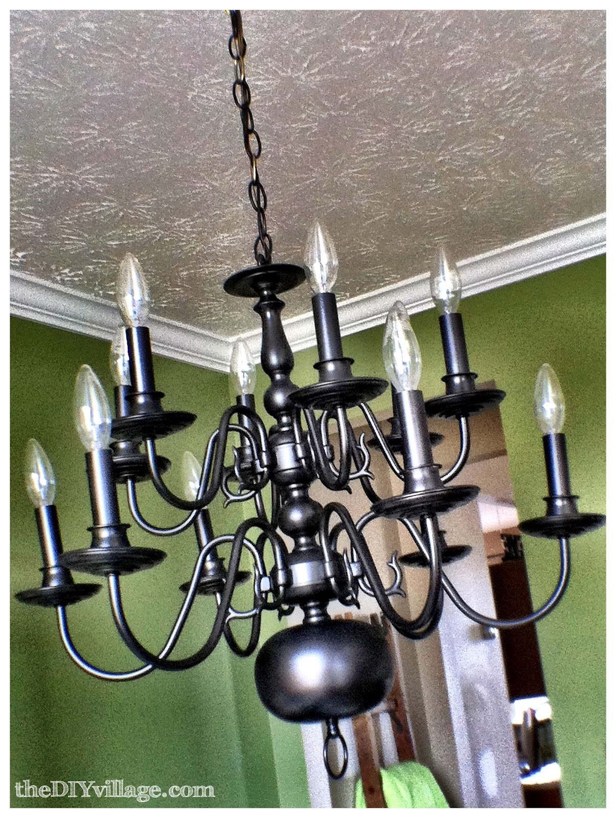 once the dining room light was dry and cured matt went ahead and hung. Black Bedroom Furniture Sets. Home Design Ideas