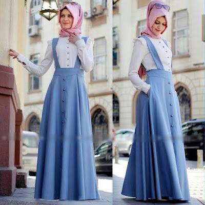 Baju Maxi Overall Kodok Muslimah Terbaru 2015
