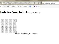 Kalkulator Sederhana dengan Java Servlet