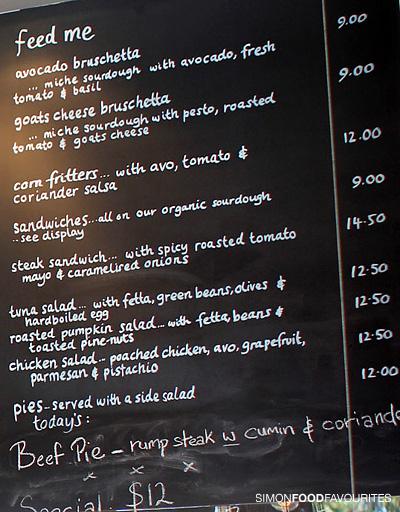 Grams Cafe Randwick Menu
