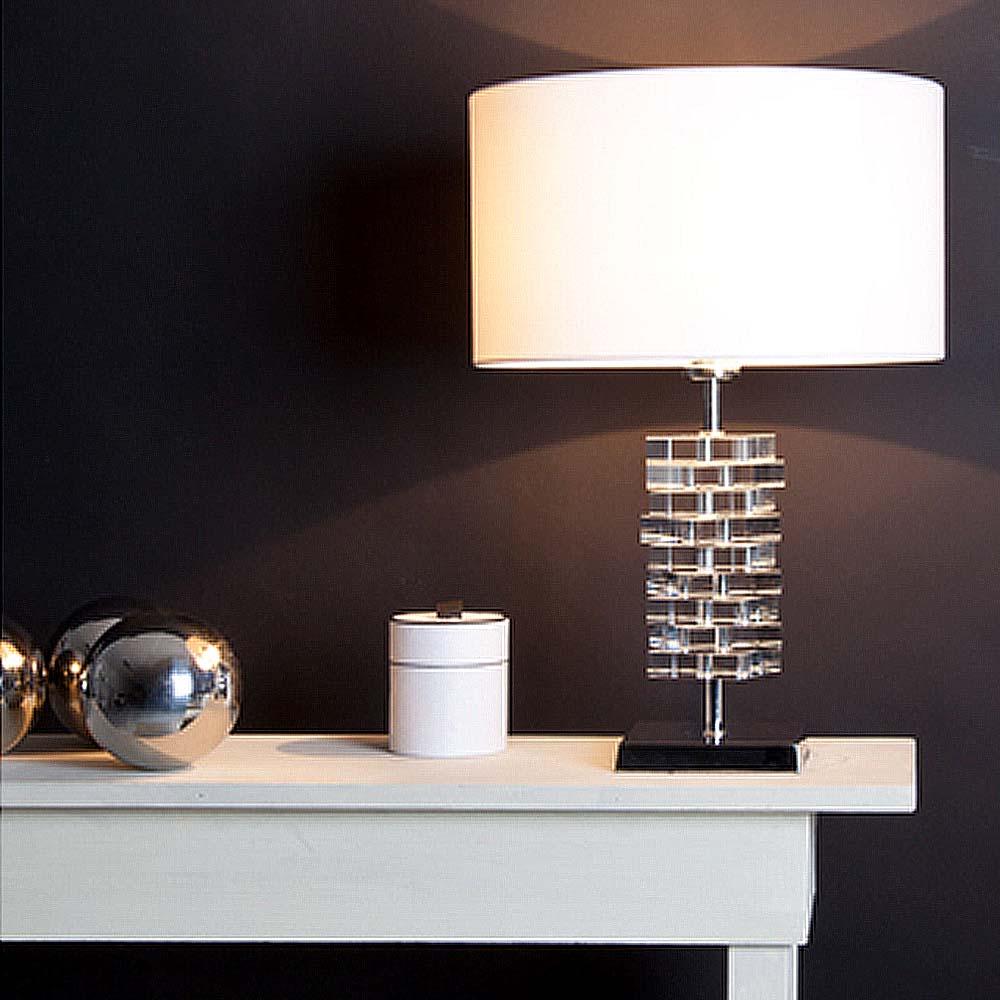 tischleuchten aus glas und kristall dezember 2012. Black Bedroom Furniture Sets. Home Design Ideas