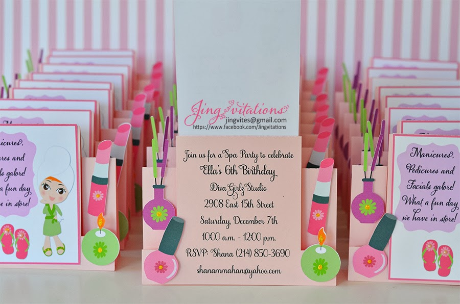 spa  invitations