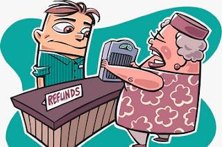 Memberi Fasilitas Pengembalian Uang(refund) atau Barang Yang Mudah