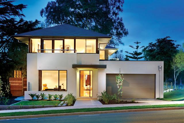 مخططات منازل حديثة مودرن بطابقين Modern Style Home Plan