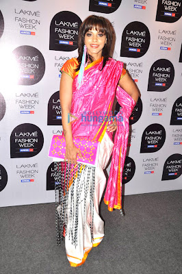 Manasi Scott walks the ramp on the Lakme Fashion Week 2013