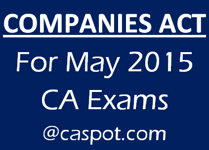 companies-act-for-may-2015-ca-exams