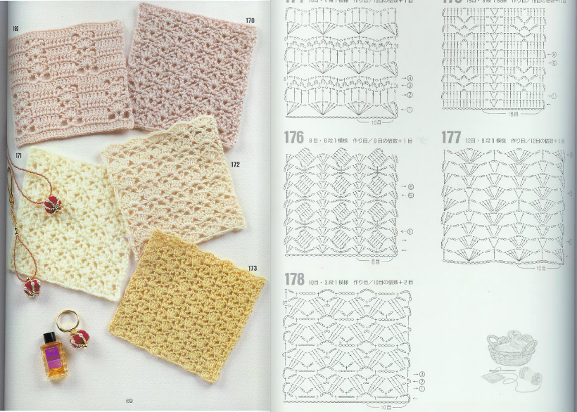 ... : 262 Crochet Patterns Book - Open work crochet and Borders