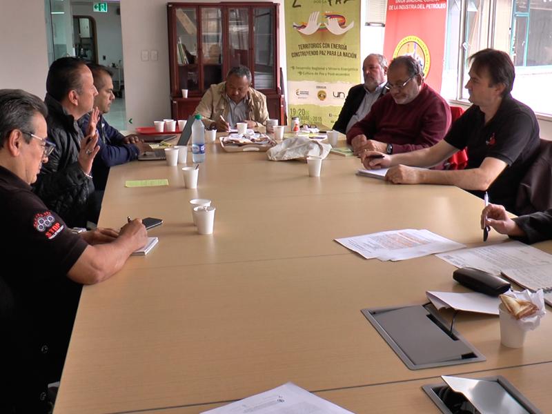 Delegados internacionales de IndustriAll acompañan unidad minero-energética en Colombia
