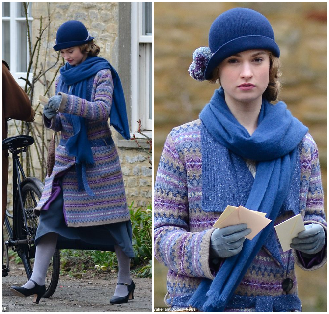 lady rose di downton abbey outfit da giorno