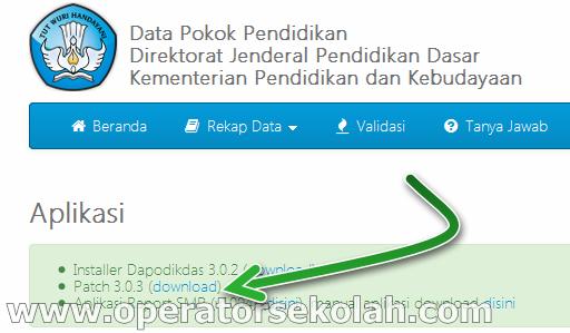 aplikasi dapodik - dapodikdas patch v.3.0.3