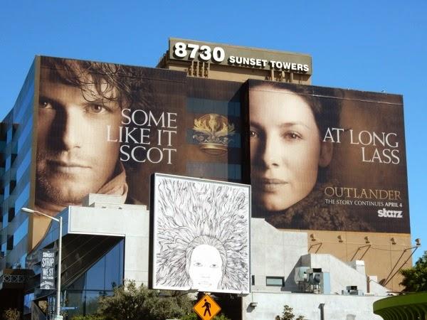 Giant Outlander midseason 1 teaser billboard